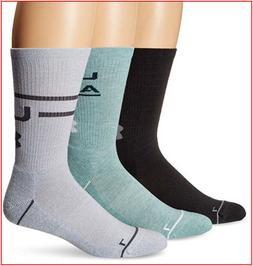 3 Pairs - Under Armour Phenom 4.0 CREW Socks Wicks Large - G