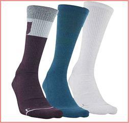3 Pairs - Under Armour Phenom 4.0 CREW Socks Wicks Large - P