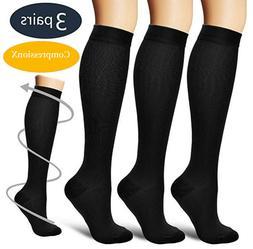 S-XXXL Compression X Socks Knee High 20-30mmHg Graduated Me