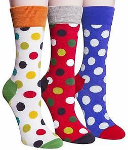Loritta 3 Pairs Womens Cotton Socks Cute Funny Warm Soft Col