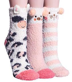 YSense 3 Pairs Womens Super Soft Fluffy Socks Winter Warm Cu