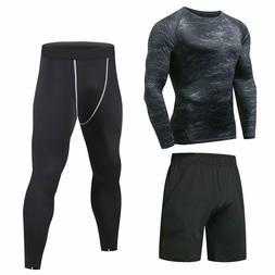Niksa 3 Pcs Mens Fitness Gym Clothing Set Sports Wear Exerci