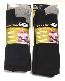 WALLS 3-PR MEN'S XL BIG & TALL HEAVY DUTY CREW SOCKS BLACK w