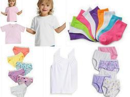 30 PC Baby Girl Panties Cami T-Shirt Socks Lot Bundle Toddle