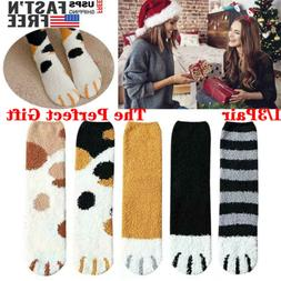 1/3Pair Socks Cat Paw Printed Cartoon Ankle Short Sock Cotto