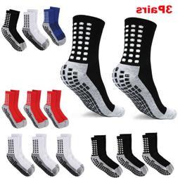 1/3Pairs Premium Sport Anti Slip Socks w/Grip Soccer Footbal