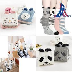 Ysense 4-5 Pairs Womens Cute Funny Socks Casual Cotton Crew