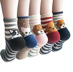 4-5 Pairs Womens Famous Painting Art Printed and Cute Animal