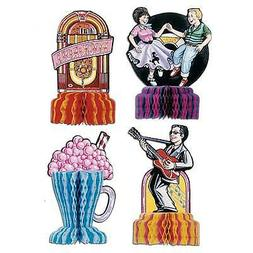 4 Fabulous 1950s Sock Hop GREASE Party MINI Decorations Rock