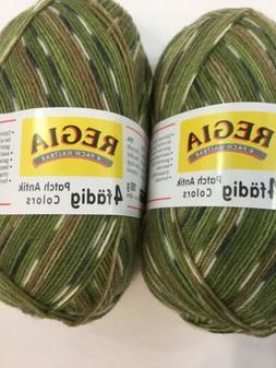 Regia 4 fadig Patch Antik Colors - 2 skeins - 5756 Olive/Tan