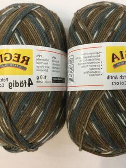 Regia 4 fadig Patch Antik Colors - 2 skeins - 5754 Blue/Tan