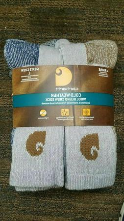 4 Pack - Carhartt Men's A695-4 Cold Weather Crew Sock - Size