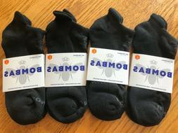 Pack Bombas Unisex Ankle Socks Size Large Black