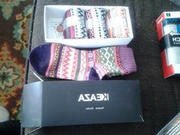 keaza 4 pair pack women's vintage style cotton nitting wool