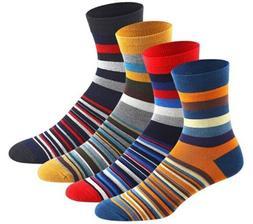4 Pair Keaza Striped Style Men's Socks