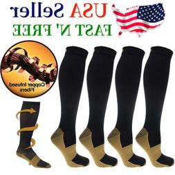 1-4 Pairs Compression 20-30mmHg Socks Relief Support Miracle