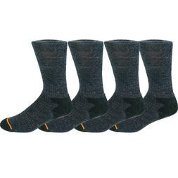 4 Pairs Men's Warm Heavy Duty Gray Merino Wool Winter Work S