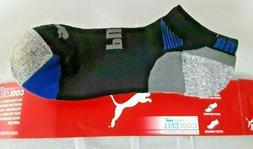 4 pairs puma mens dri fit low cut quarter crew sock size 10-