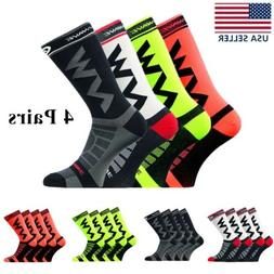 4 Pairs Sports Outdoor Cycling Socks Men Running Breathable