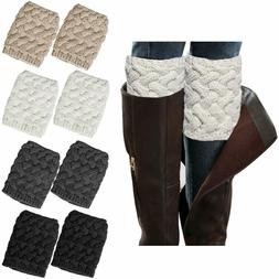 4 pairs womens boot socks winter warm