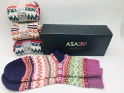 4-pk Keaza Vintage Cotton Socks Stylish Designs New Other E8
