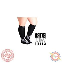 4XL Mojo Compression Socks 20-30mmHg Extra Wide Calf Compres