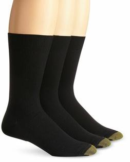 $45 GOLD TOE Mens BLACK CREW METROPOLITAN DRESS CASUAL SOCKS