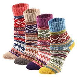 4PK Keaza Women's Vintage Style Cotton Knitting Wool Warm Wi