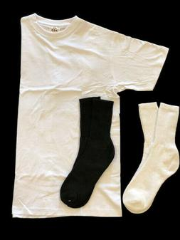 4XL-5XL AAA Alstyle WHITE Crewneck Tshirt + FREE Socks