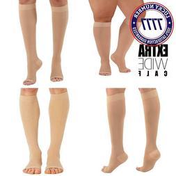 4Xl Mojo Compression Socks Plus Size Extra Wide Calf, Knee-H