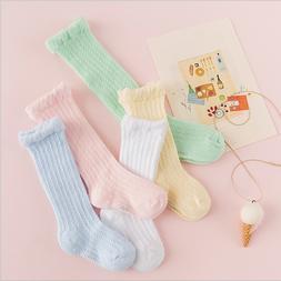 5 Pairs Baby Girl Boy Toddler Knee High Cotton Summer Socks