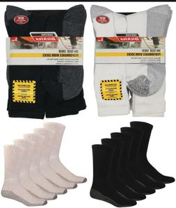Dickies 5 Pair Crew Work Socks Dri-Tech  Extra Thick Reinfor