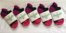 5 Pair Bombas Womens Ankle Socks ~ Size XS ~ Black Pink Mult