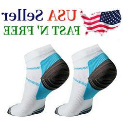 5 Pairs Compression Socks Plantar Fasciitis Arch Ankle Runni