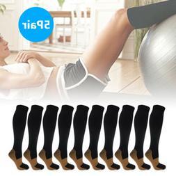 5 Pairs Compression Sport Socks 20-30mmHg Graduated Support