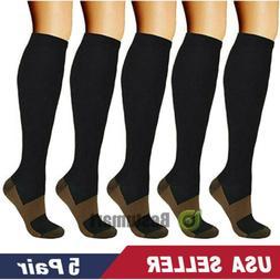 5 pairs copper compression socks 20 30mmhg