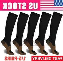 5 pairs copper fit energy knee high