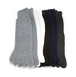 White Casual Toe Men Socks 5 Pairs No Show Cotton Socks Sale