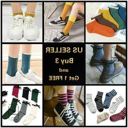 5 pairs Women's Kawaii Cute Bowtie Soft Breathable Ankle hig
