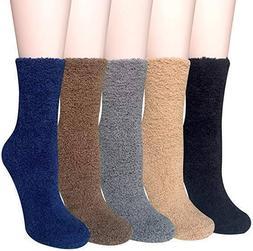 Loritta 5 Pairs Women Warm Fuzzy Fluffy Socks Super Soft Coz
