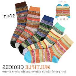 5 Pairs Women Thicken Wool Cashmere Lady Winter Warm Soft So