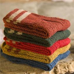 5 Pairs Women Wool Cashmere Lady Thick Winter Socks Warm Sof