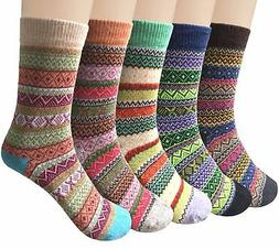 Loritta Women's Winter Socks, Warm Cozy Soft Knit, Wool Cott