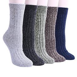 5 pairs womens winter soft warm wool