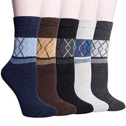 5 pairs womens winter thick knit warm