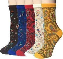 Chalier 5 Pairs Womens Winter Warm Funny, 5 Pairs Funny Sock