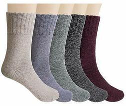 YSense 5 Pairs Womens Winter Warm Socks, C-01 5 Pairs Wool S