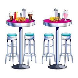 50s Sock Hop Grease SODA SHOP TABLES AND STOOLS Scene Setter