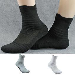 5Pack Mens Elite Basketball Socks Dri-Fit Sport Middle Ankle