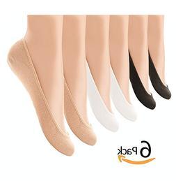 6 Pairs Womens Liner Socks No Show Boat Ballet Plain Footies